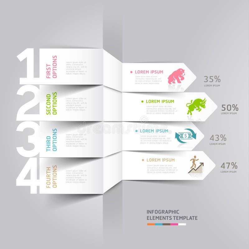 Bolsa de acción del negocio y de las finanzas Infographics. stock de ilustración