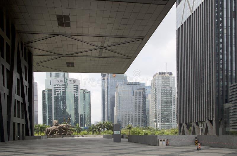 Bolsa de acción de Shenzhen y edificios modernos en China foto de archivo libre de regalías