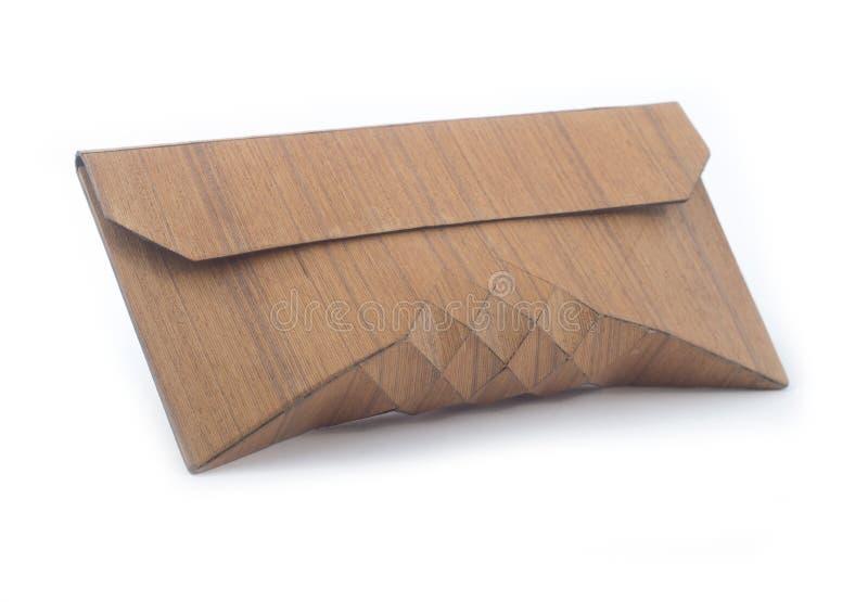 Bolsa de madeira do vintage, bagag cosmético foto de stock