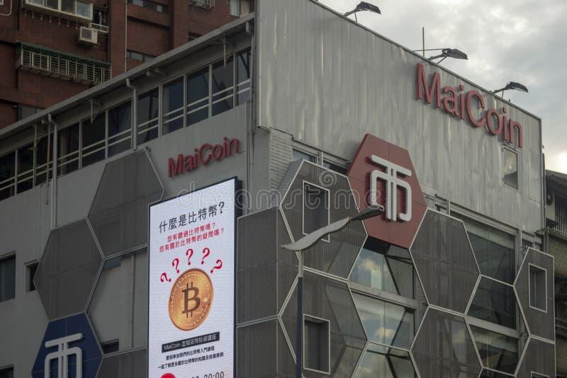 bolsa de negociação criptomoeda baseada em Taipei fotos de stock royalty free