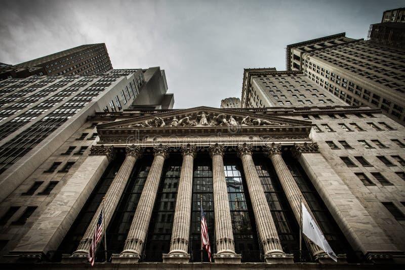 A Bolsa de Nova Iorque fotografia de stock