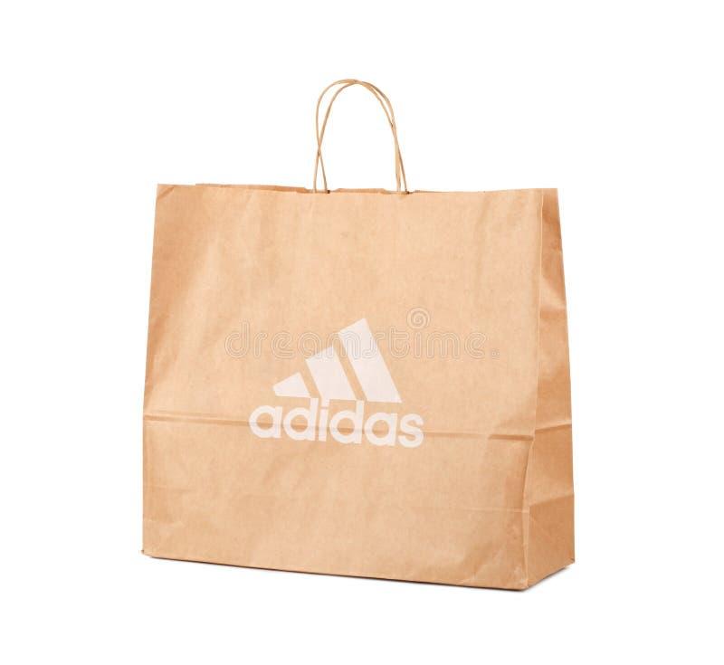 Bolsa de papel de Adidas foto de archivo