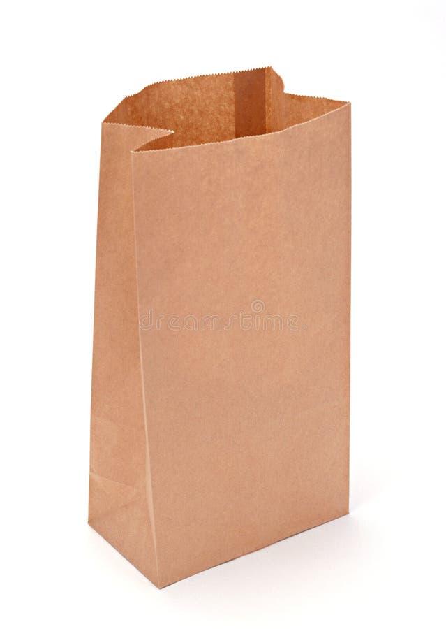 Bolsa de papel de Brown foto de archivo libre de regalías