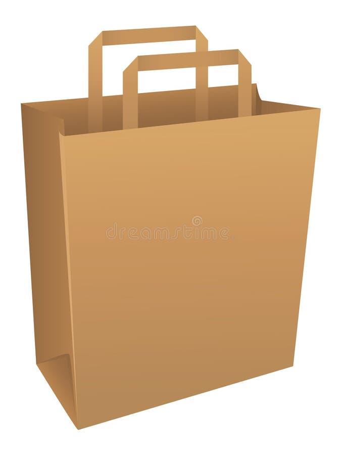 Bolsa de papel de Brown stock de ilustración