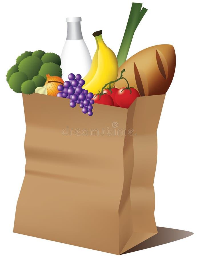 Bolsa de papel de la tienda de comestibles