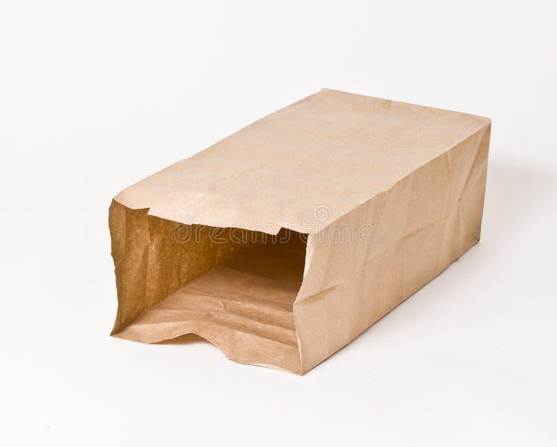 Bolsa de papel marrón vacía imagen de archivo libre de regalías