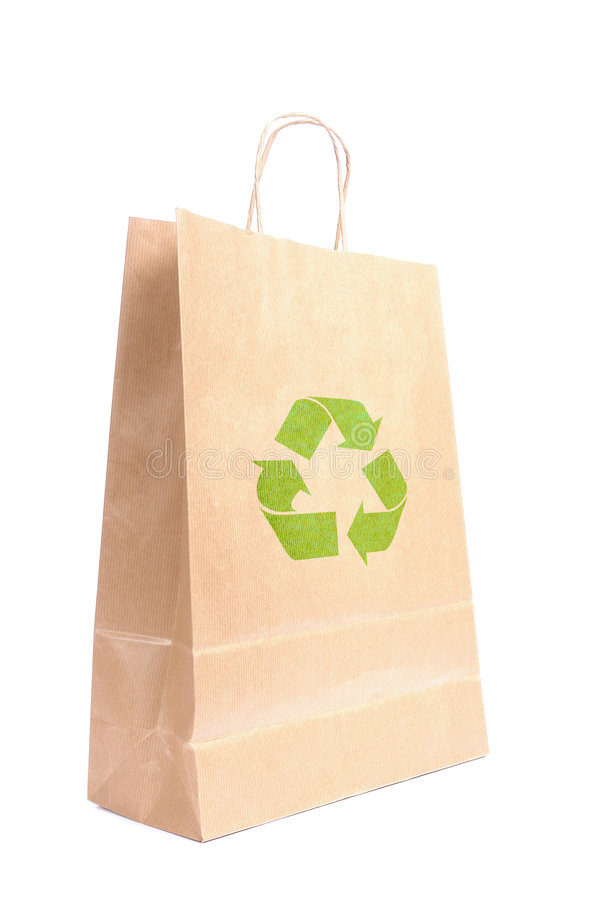 Bolsa de papel reciclable imagen de archivo libre de regalías