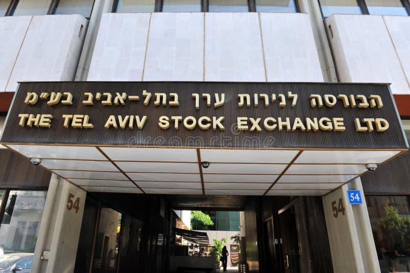 Bolsa de Tel Aviv fotografía de archivo