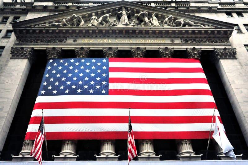 A bolsa de valores de New York Wall Street foto de stock royalty free