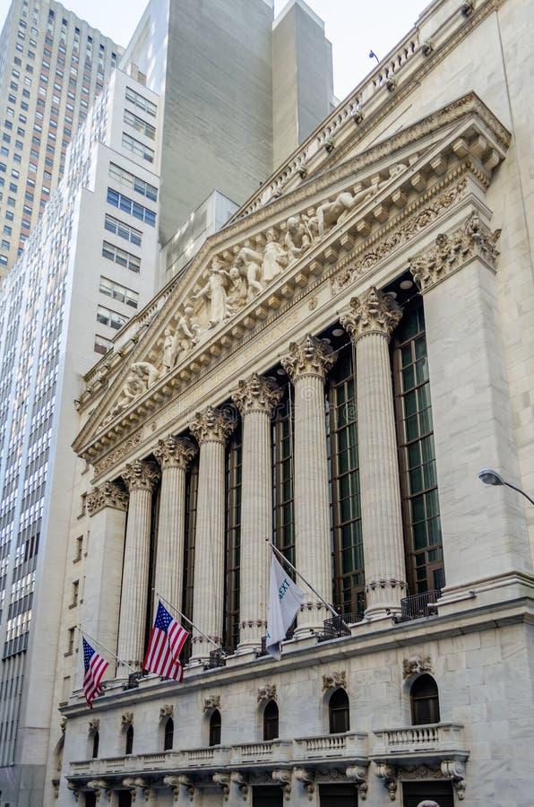 A Bolsa De Valores De NY, Wall Street Imagens de Stock Royalty Free
