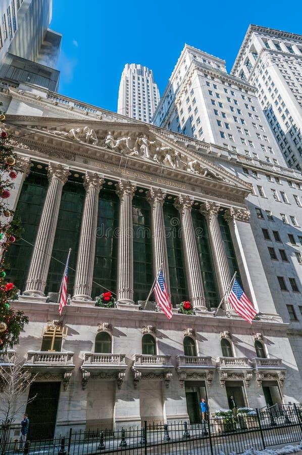 A bolsa de valores em New York, Estados Unidos fotografia de stock