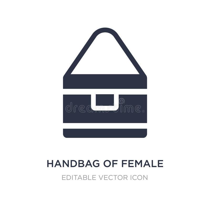 bolsa do ícone fêmea no fundo branco Ilustração simples do elemento do conceito da forma ilustração royalty free