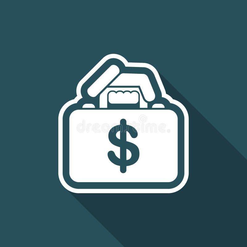 Bolsa do dinheiro ilustração stock