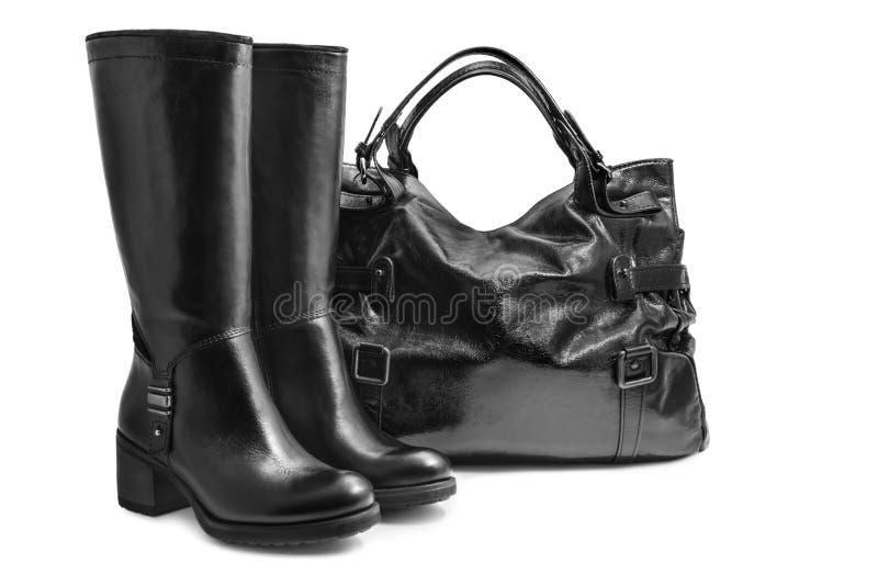 Bolsa e botas imagem de stock royalty free