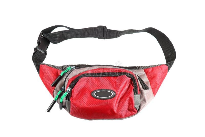 Bolsa roja de la cintura aislada en el fondo blanco foto de archivo libre de regalías