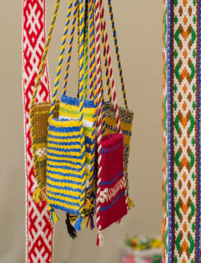 Bolsas coloridas justas para o dinheiro fotos de stock royalty free