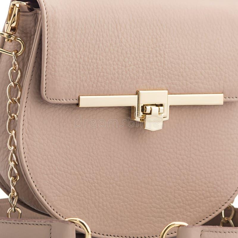 Bolsas de couro elegantes fotografia de stock royalty free