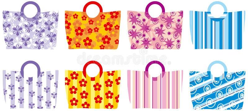 Bolsas do verão ilustração stock