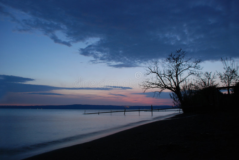 bolsena湖s 免版税库存照片