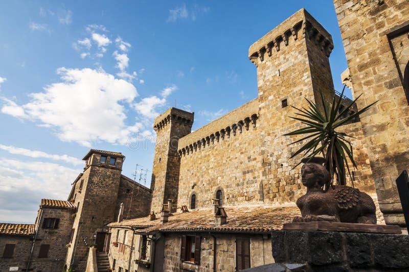 Bolsena. Historic buildings in Bolsena, Italy stock photos