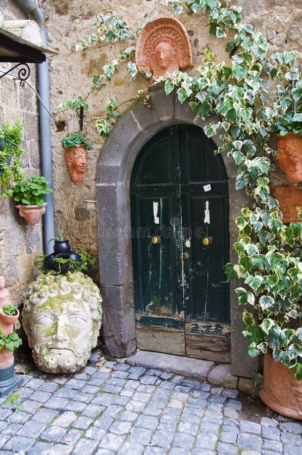 Bolsena italy. A frontdoor garden in bolsena, italy royalty free stock images