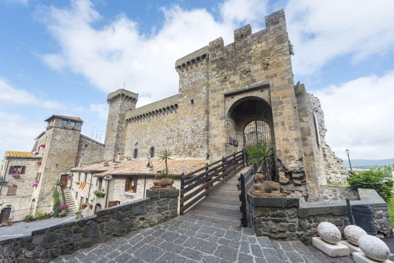 Bolsena (Italy). Bolsena (Viterbo, Lazio, Italy): the medieval castle royalty free stock images