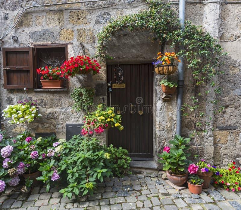 Bolsena (Italy). Bolsena (Viterbo, Lazio, Italy): old typical house of the medieval town royalty free stock photo