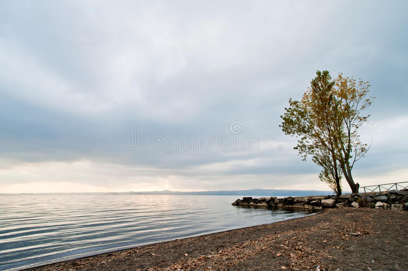 Bolsena lake. Bolsena is a lovely and famous lake and city in middle Italy royalty free stock images