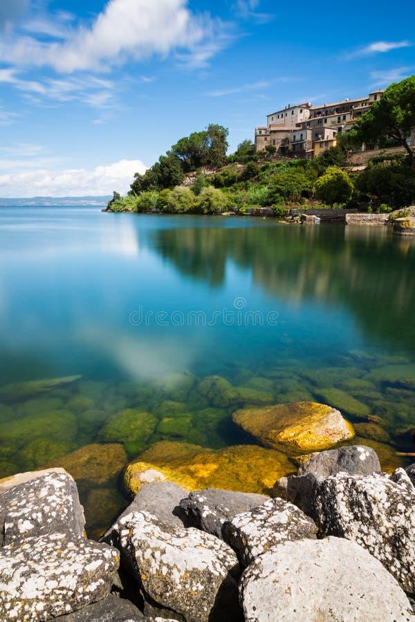 Bolsena lake - View from Capodimonte. A view of Bolsena lake - View from Capodimonte stock photos