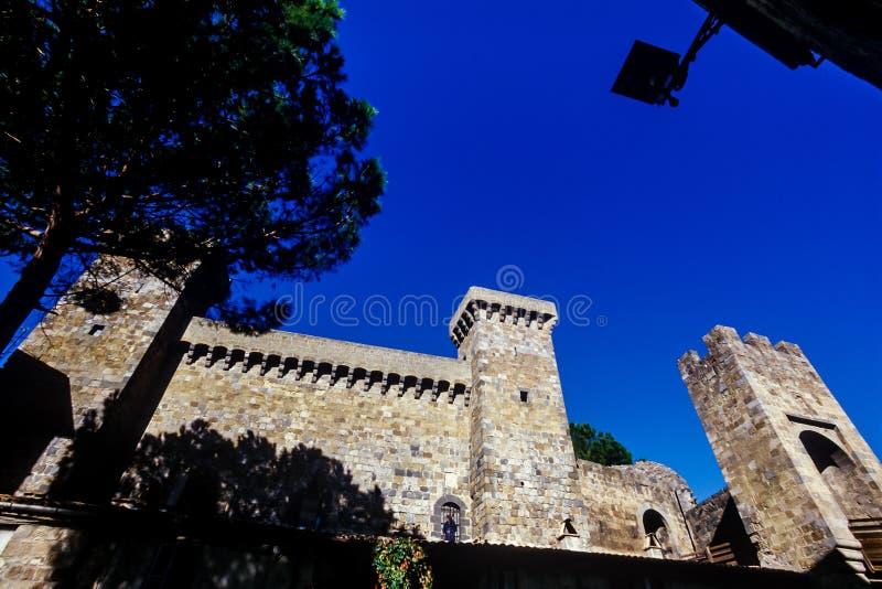 Bolsena, Lazio - Italy. Rocca Monaldeschi castle, medieval town with castle on Lake Bolsena, region Latium, central Italy royalty free stock photo