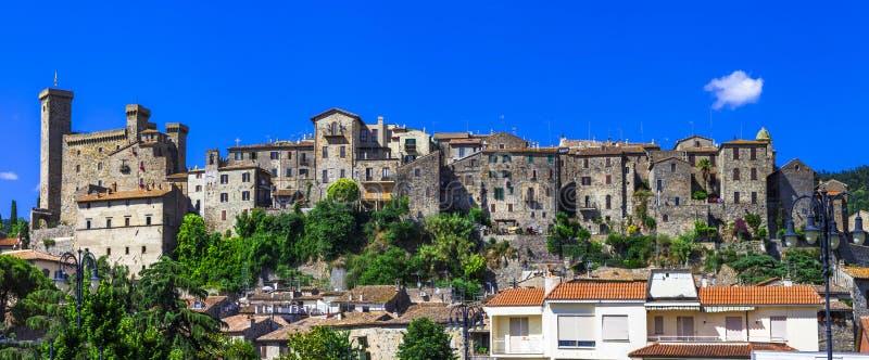 Bolsena - mooie middeleeuwse stad, Italië royalty-vrije stock fotografie