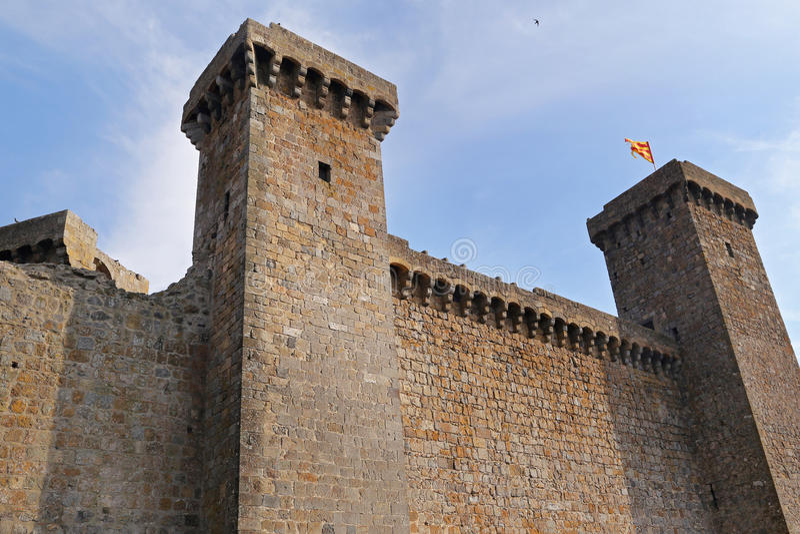 Bolsena (Viterbo, Lazio, Italië): het middeleeuwse kasteel stock foto's