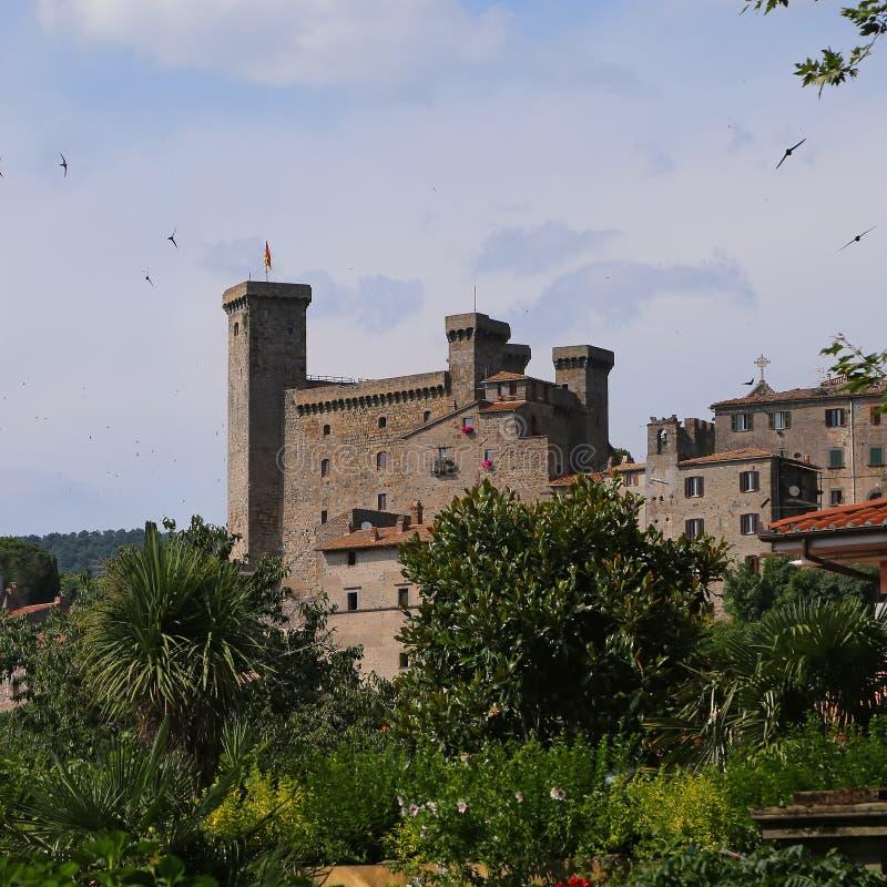 Bolsena (Viterbo, Lazio, Italië): het middeleeuwse kasteel stock foto