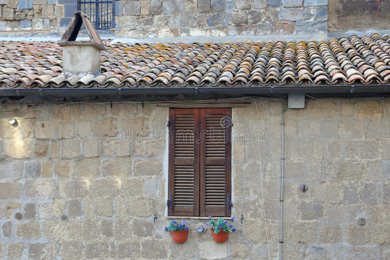 Bolsena (Viterbo, Lazio, Italië): oude typische straat van medie royalty-vrije stock foto's
