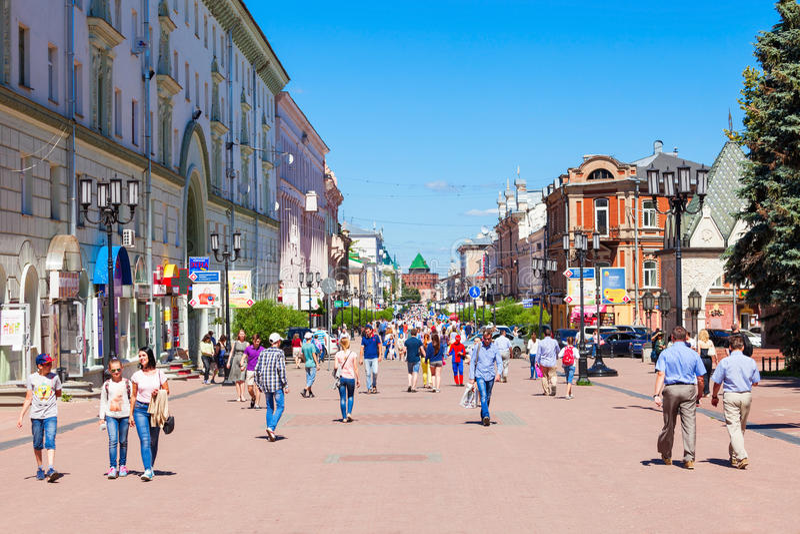Bolshaya Pokrovskaya, Nijni-Novgorod image stock
