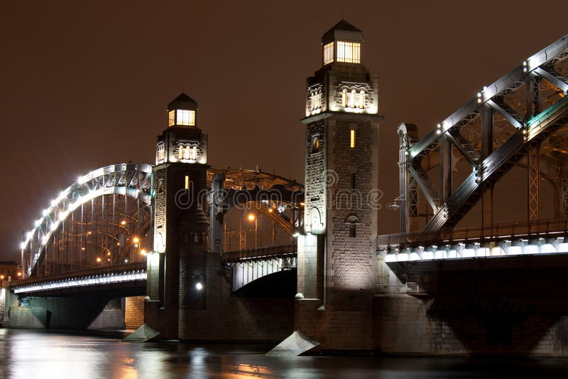 Bolsheokhtinsky bridge stock photos