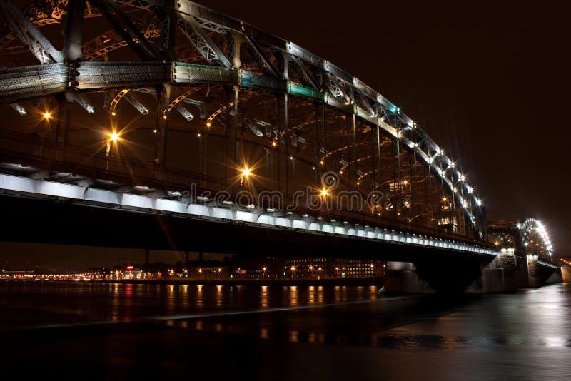 Bolsheokhtinsky bridge stock photography
