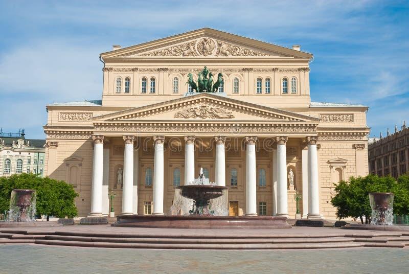 bolshoi Moscow Russia theatre fotografia stock