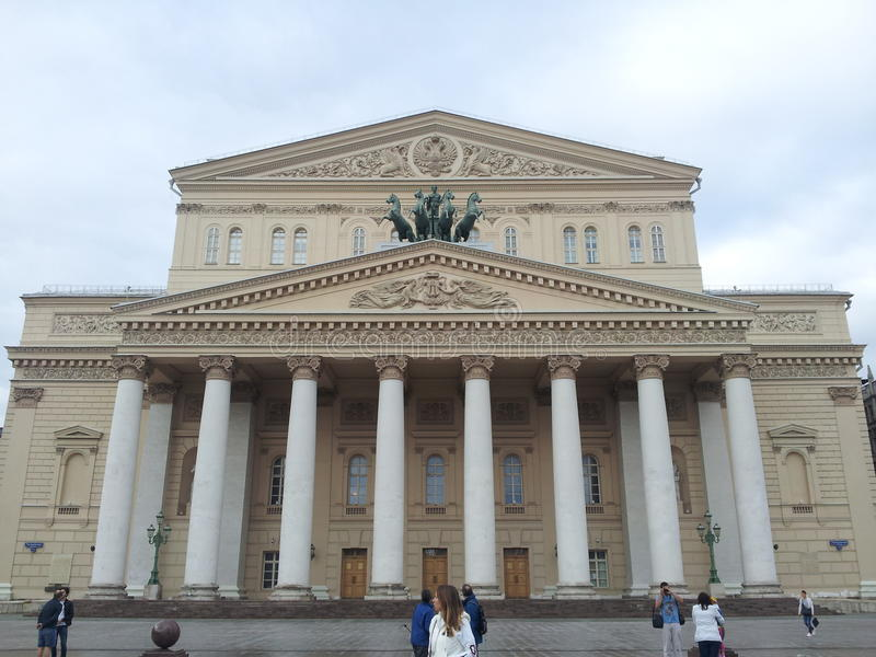 bolshoi Moscow Russia theatre obraz stock