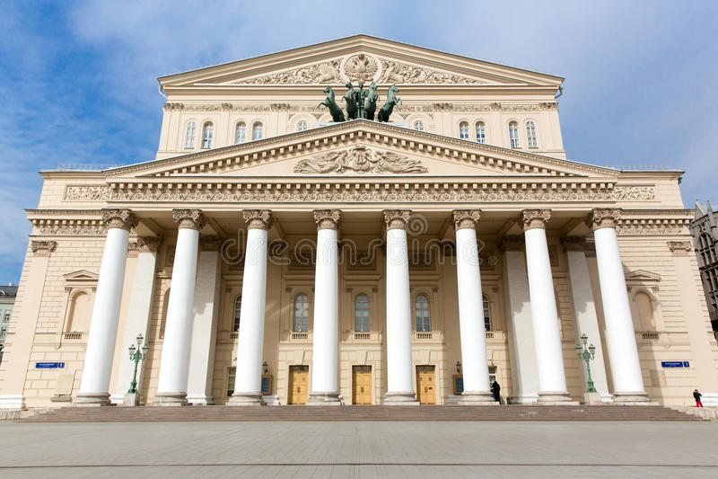 bolshoi Moscow Russia theatre obraz royalty free
