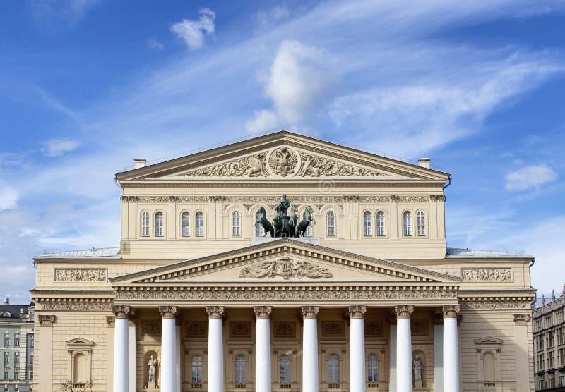 Bolshoi teaterbyggnad i Moskva arkivbild