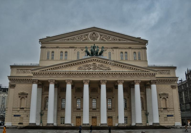 Bolshoi-Theater, Moskau stockfoto