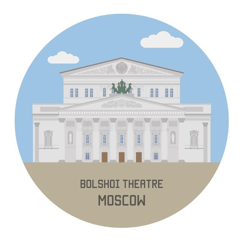 Bolshoi Theatre moscow Rosji ilustracji