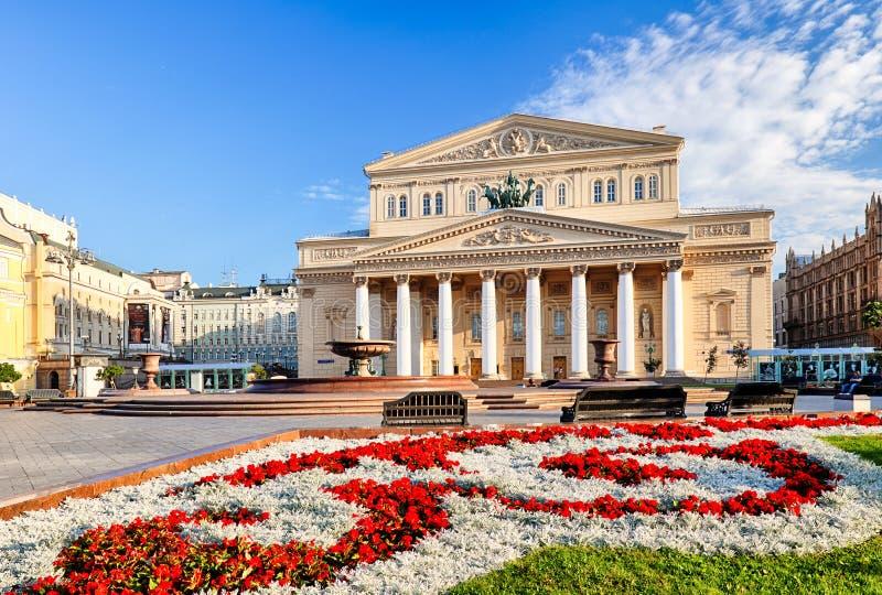 Bolshoitheater in Moskou, Rusland stock afbeeldingen