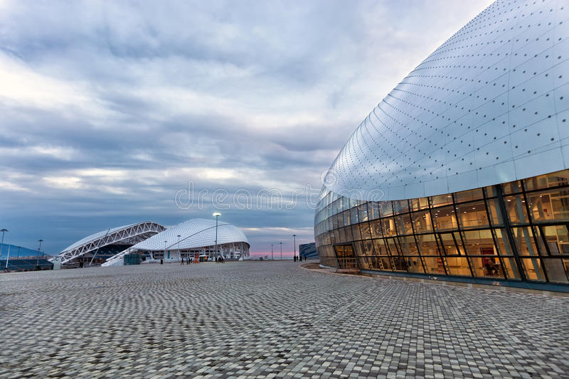 Bolshoy iskupol Olympiskt parkera i Sochi, Ryssland arkivbilder