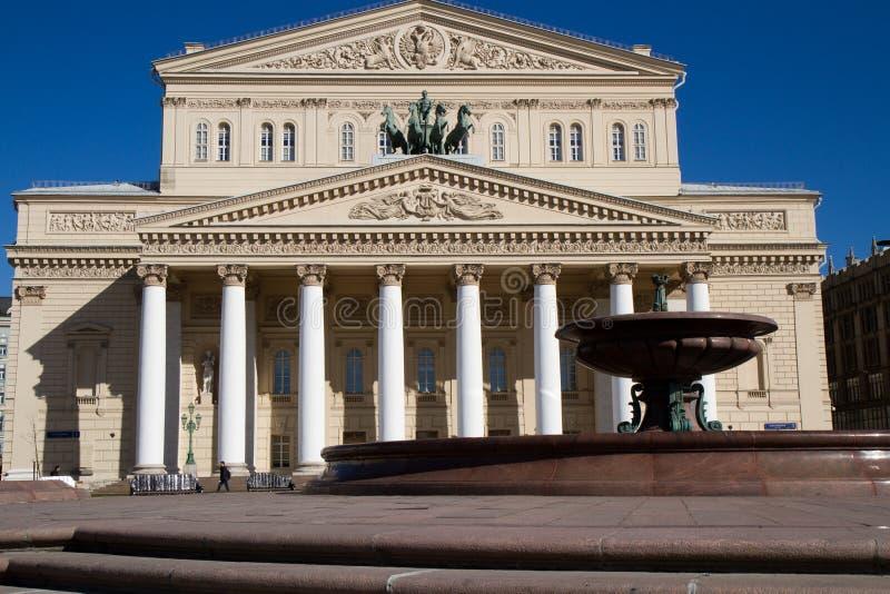 Bolshoy teater i Moskva royaltyfria bilder