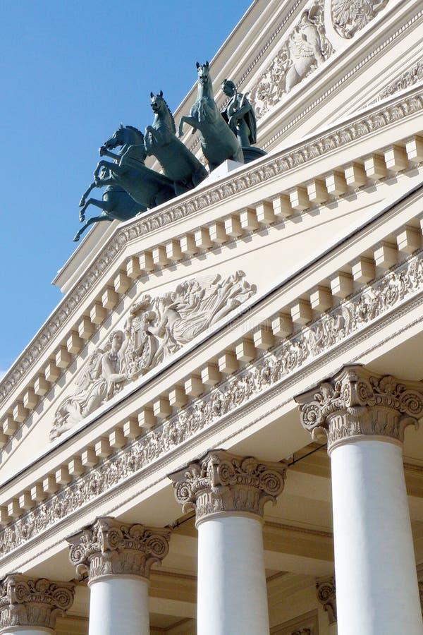 Bolshoy teaterbyggnad i Moskva arkivbilder