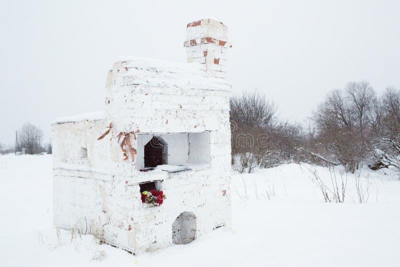 Bolshoye Zarechye, by på territoriet av den Leningrad regionen, Ryssland, royaltyfri foto