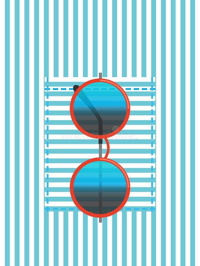 Bolsillo de la camisa con las gafas de sol libre illustration