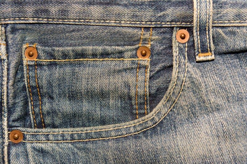 Download Bolsillo De Los Pantalones Vaqueros Foto de archivo - Imagen de costura, fondo: 7281916